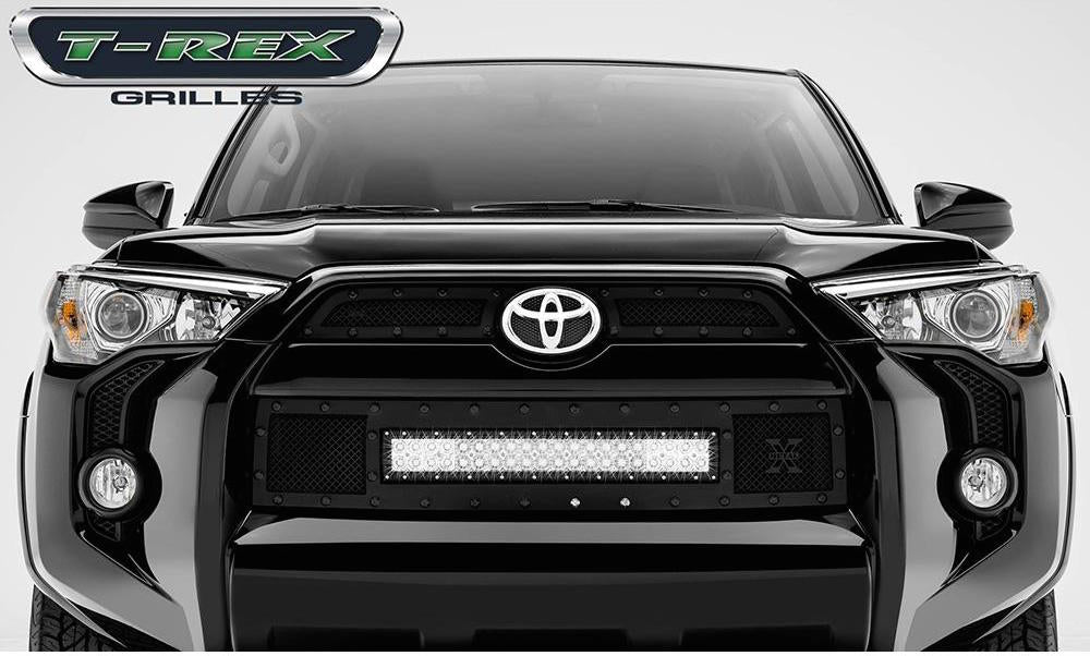 "Grille, Black, 3 Pc, Insert, Black Studs, Incl. (1) 20"" Lightbar - TOYOATA 4RUNNER 5TH GEN 2014-2019 - 4x4 Runners"