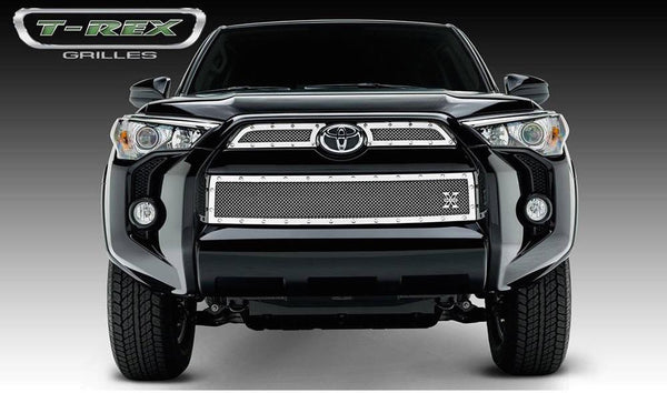 Grille, Polished, 3 Pc, Overlay, Chrome Studs - TOYOTA 4RUNNER 5TH GEN 2014-2019 - 4x4 Runners