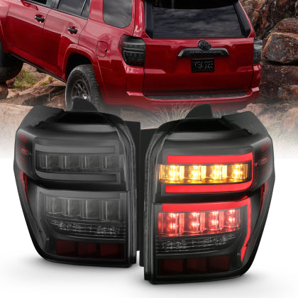 ANZO Rear Tail Light Black Housing Smoked Lens - Toyota 4Runner 5th Gen 2014-2020