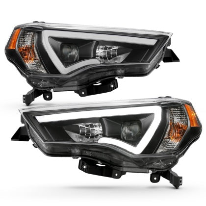Anzo - Projector Headlights Black w/ Amber - Toyota 4Runner 5th Gen 2014-2020