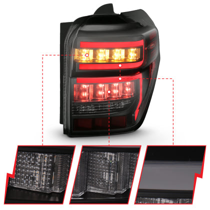 Anzo - BLACK HOUSING SMOKE LENS RED LIGHT BAR W/SEQUENTIAL - Toyota 4Runner 5th Gen 2014-2021 - 4x4 Runners