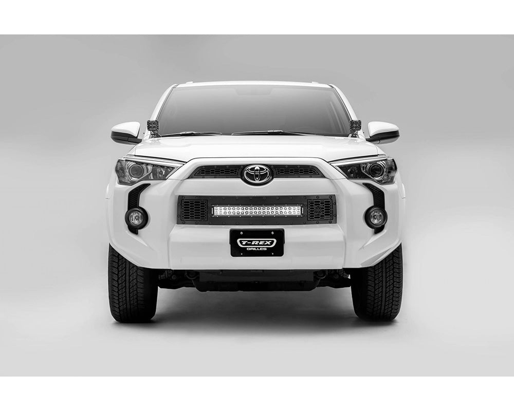 "Grille, Black, 3 Pc, Insert, Black Studs, Incl 20""Lightbar - TOYOTA 4RUNNER 5TH GEN 2014-2019 - 4x4 Runners"