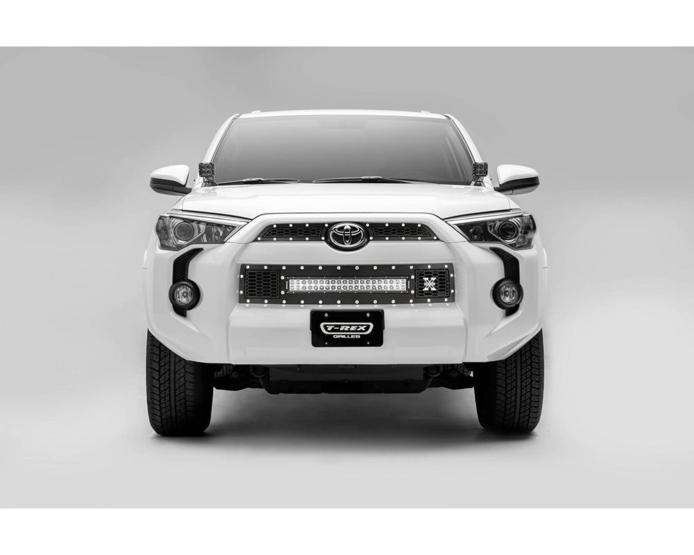 "Grille, Black, 3 Pc, Insert, Chrome Studs, Incl 20"" Lightbar - TOYOTA 4RUNNER 5TH GEN 2014-2019 - 4x4 Runners"