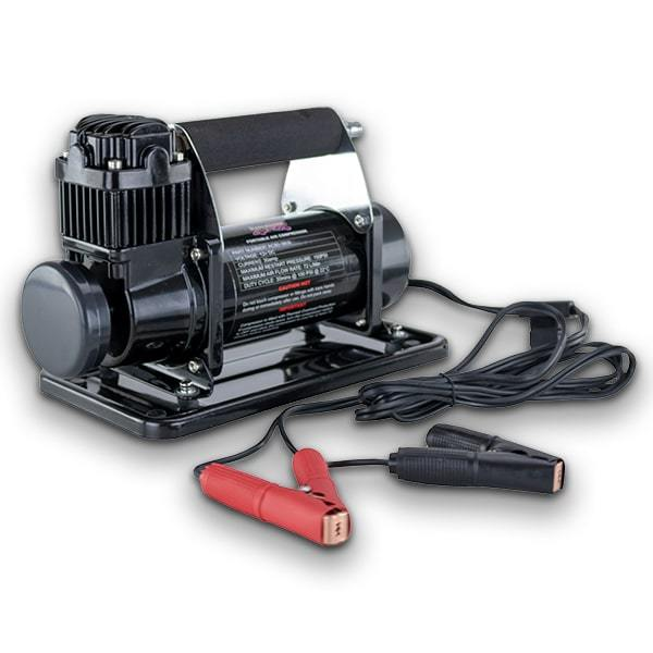 DOBINSONS 4X4 PORTABLE 12V HIGH OUTPUT AIR COMPRESSOR KIT WITH BAG, HOSE, AND GAUGE - 4x4 Runners