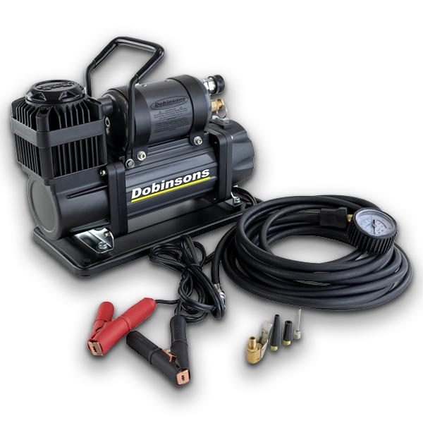 DOBINSONS 4×4 ZENITH PORTABLE 12V HIGH OUTPUT AIR COMPRESSOR KIT WITH BAG, HOSE AND GAUGE - 4x4 Runners