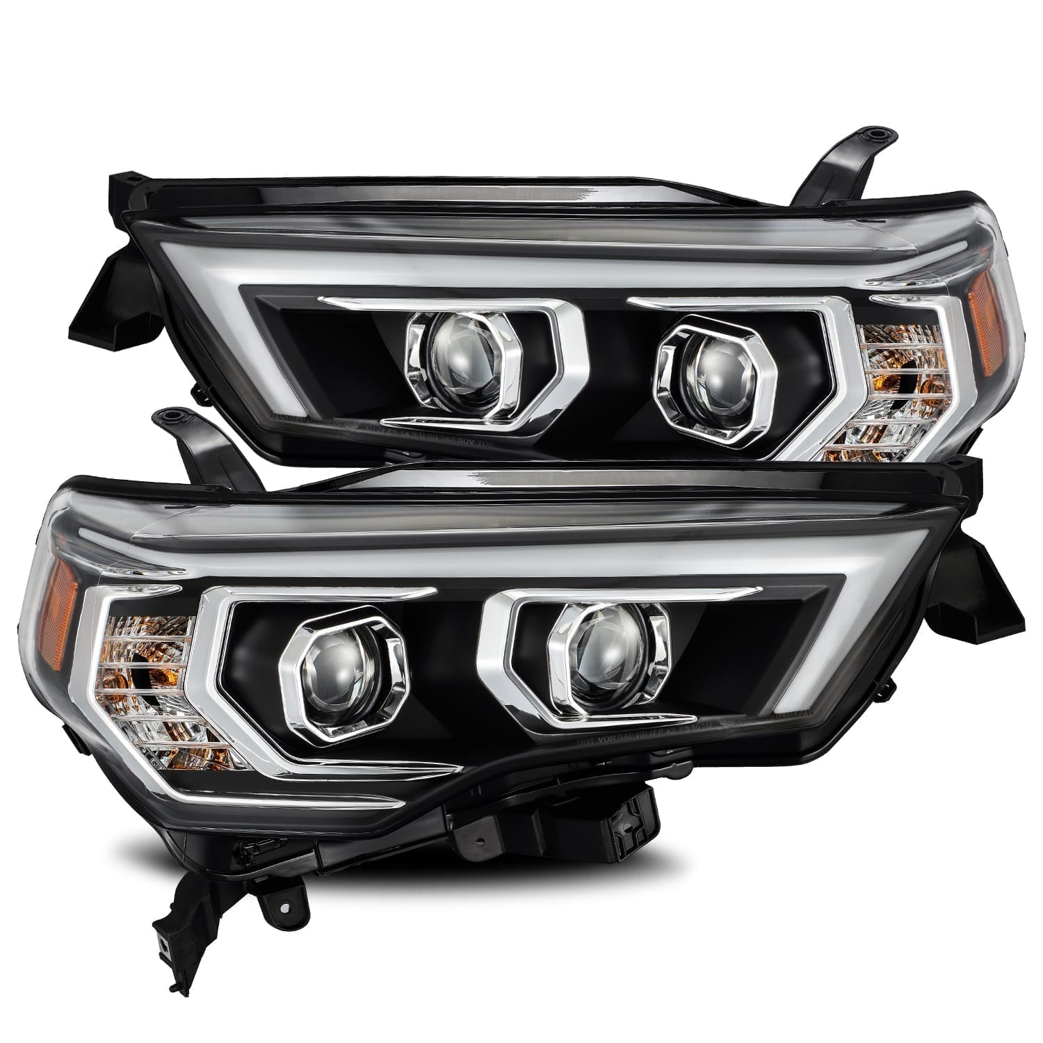 AlphaRex - LUXX-Series Projector Headlights Black - Toyota 4Runner 5th Gen 2014-2021 - 4x4 Runners