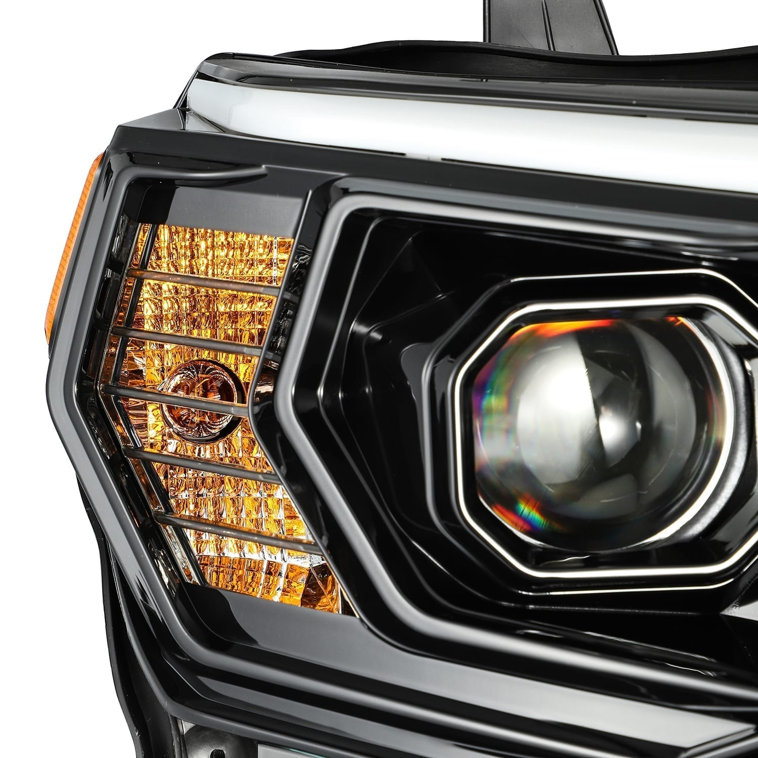 AlphaRex - LUXX-Series LED Projector Headlights Alpha-Black - Toyota 4Runner 5th Gen 2014-2021 - 4x4 Runners