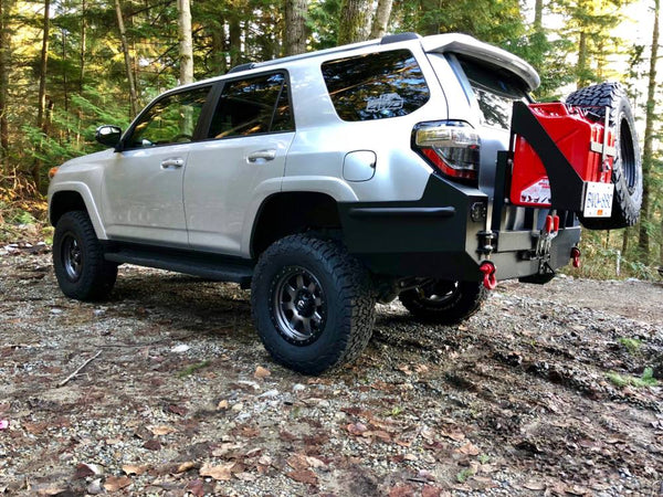 FULL HEIGHT REAR PLATE BUMPER - Toyota 4Runner 5th Gen 2010-2020 - 4x4 Runners