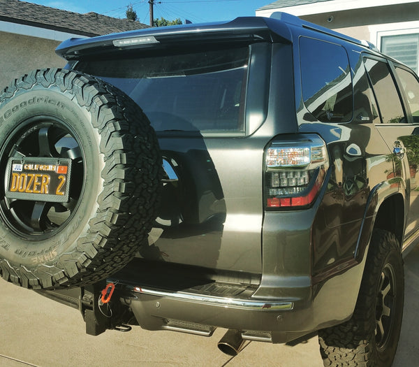 License Plate Relocator - 4x4 Runners