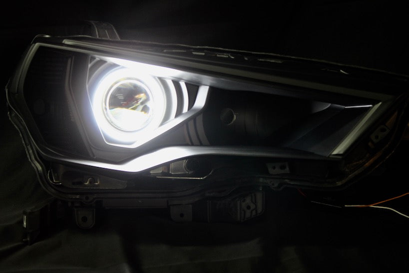 BLACK LED HALO PROJECTOR HEADLIGHTS - Toyota 4Runners 5th Gen 2014-2020 - 4x4 Runners