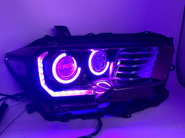 HIDRetroFit - LED HALO HEADLIGHTS CUSTOM MADE RETROFIT - Toyota Tacoma 2016-2021 - 4x4 Runners