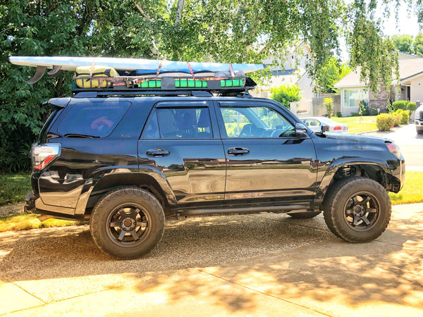 ROCKSLIDERS - 20 DEGREE BOLT ON  TOYOTA 4RUNNER 5TH GEN 2014-2020 By  CaliRaidedLED - 4x4 Runners