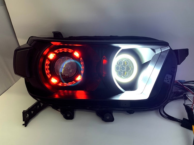 LED HEADLIGHTS QUAD HALO PROJECTOR MULTI-LENS / COLOR RGB - Toyota 4Runner 5th Gen 2010-2013 - 4x4 Runners