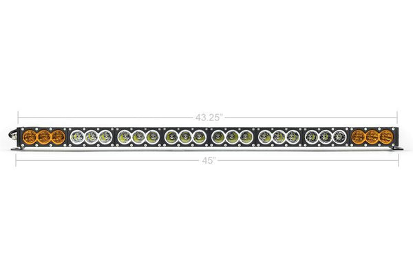 DUAL FUNCTION AMBER/WHITE LED LIGHT BAR PRINSU MOUNTING COMBO - Toyota Tacoma - 4x4 Runners
