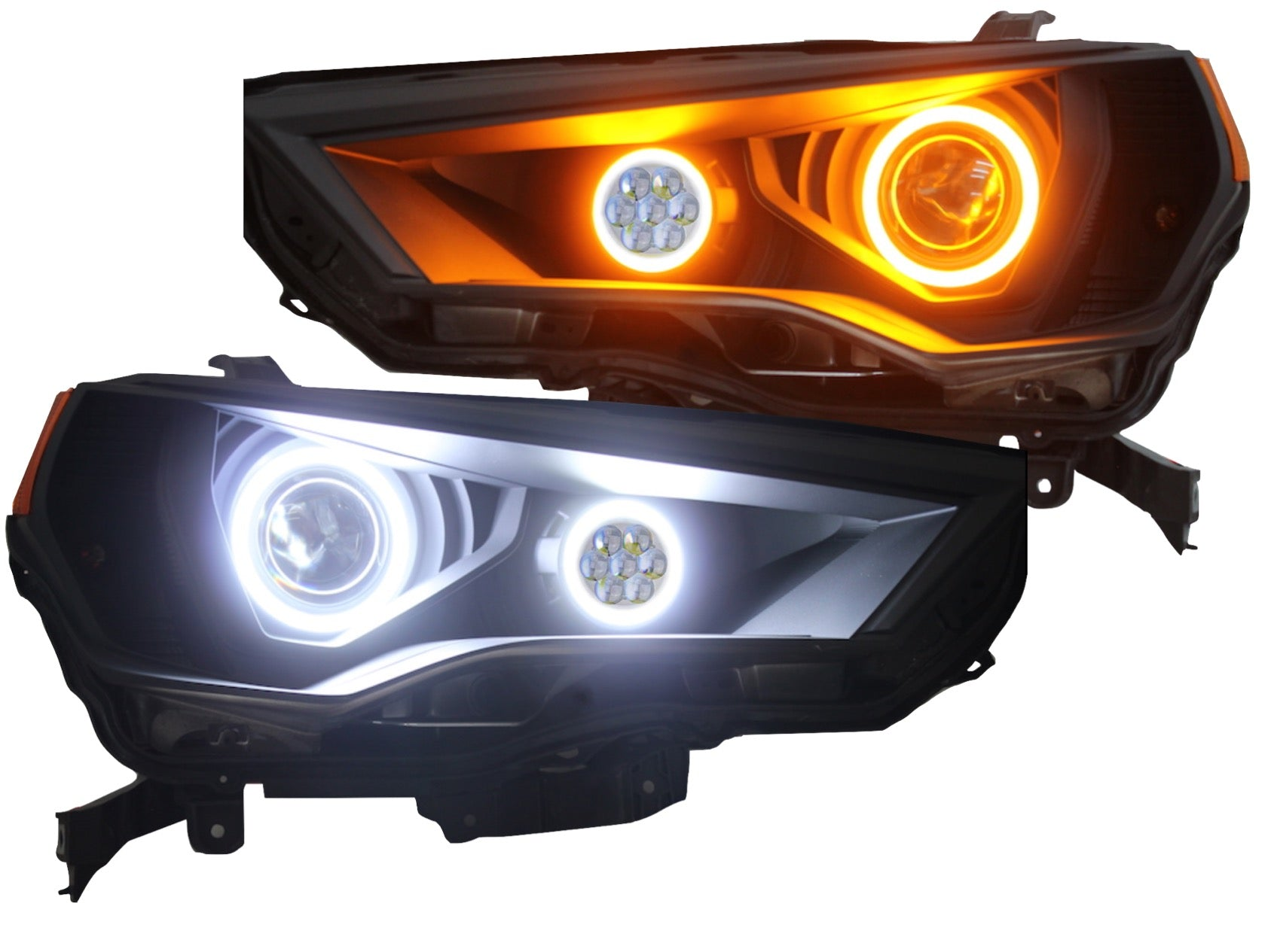 HEADLIGHTS BLACK CUSTOM LED HALO PROJECTOR - Toyota 4Runner 5th Gen 2014-2020 - 4x4 Runners