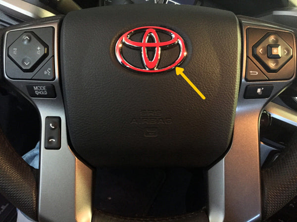 Premium Cast Vinyl Decal Steering Wheel Logo Inlay Decal for Tacoma/Tundra/4Runner/Sequoia/Land Cruiser - 4x4 Runners