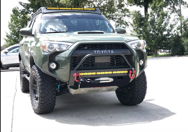 Southern Style Off Road - SLIMLINE HYBRID FRONT BUMPER WITH ACCESS HOLES AND 20″ HEISE LED - Toyota 4Runner 5th Gen 2014-2021 - 4x4 Runners