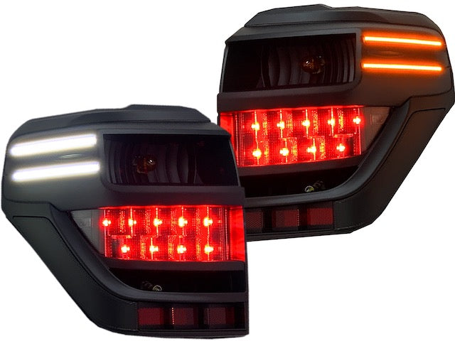 BLACK LED TAIL LIGHTS - Toyota 4Runner 5th Gen 2010-2020