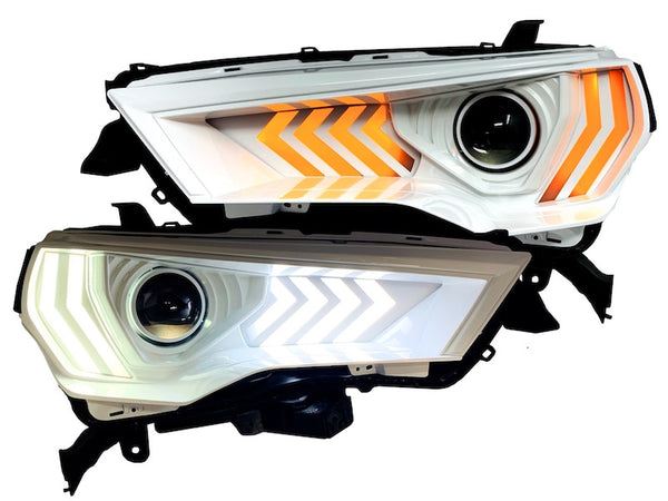 WHITE LED PROJECTOR HEADLIGHTS - Toyota 4Runner 5th Gen 2014-2020 - 4x4 Runners