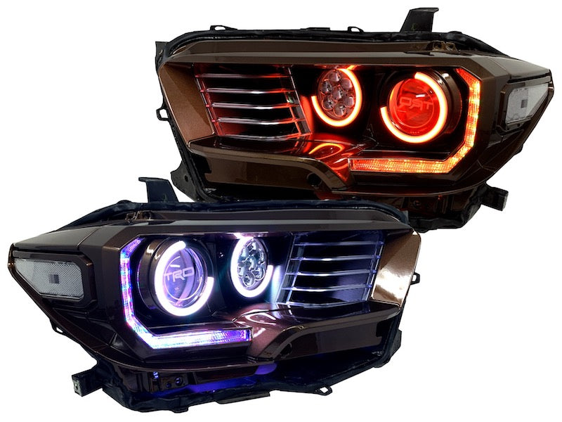 TACOMA LED HALO HEADLIGHTS CUSTOM MADE RETROFIT - TOYOTA2016-20 - 4x4 Runners