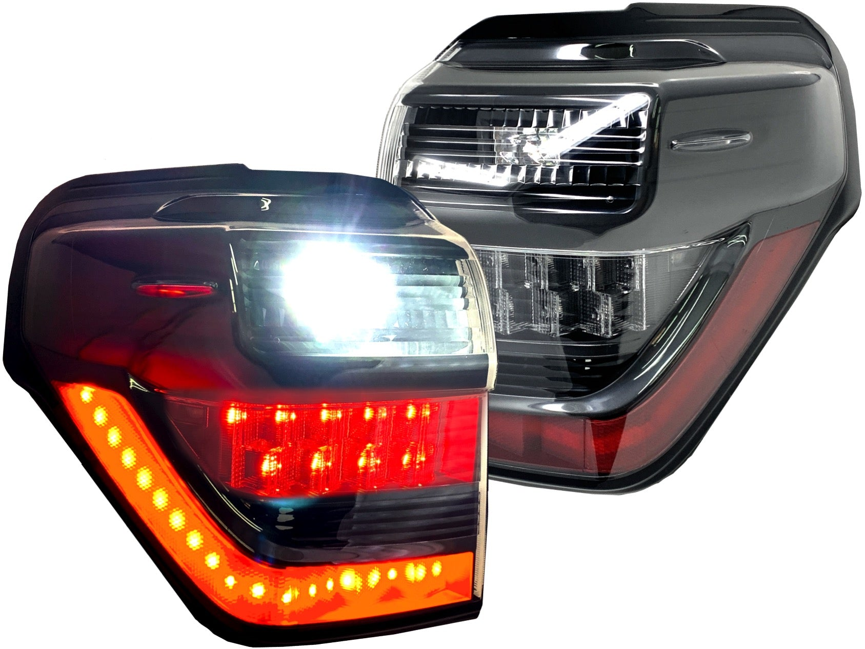 OLED BLACK LED TAIL LIGHTS - TOYOTA 4RUNNER 5th GEN 2010-2021 - 4x4 Runners