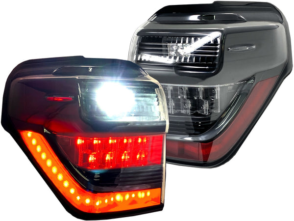 OLED BLACK LED TAIL LIGHTS - TOYOTA 4RUNNER 5th GEN 2010-2020 - 4x4 Runners
