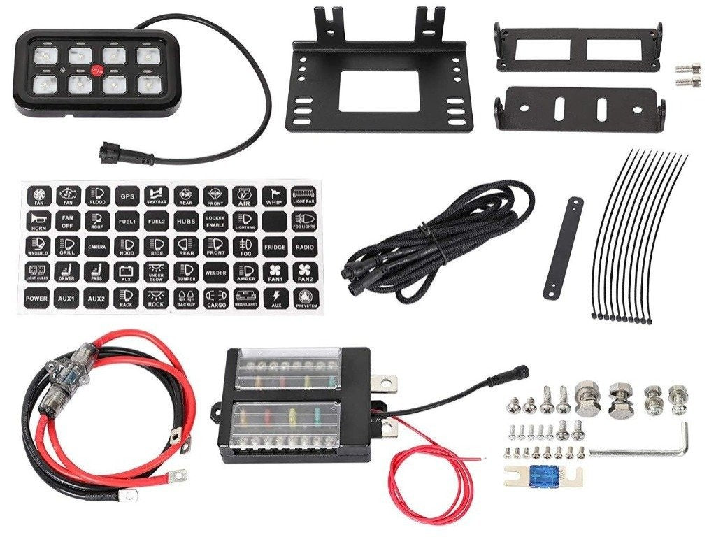 VEHICLE ACCESSORY & SWITCH CONTROL SYSTEM (BLUE BACKLIGHTING) - 4x4 Runners