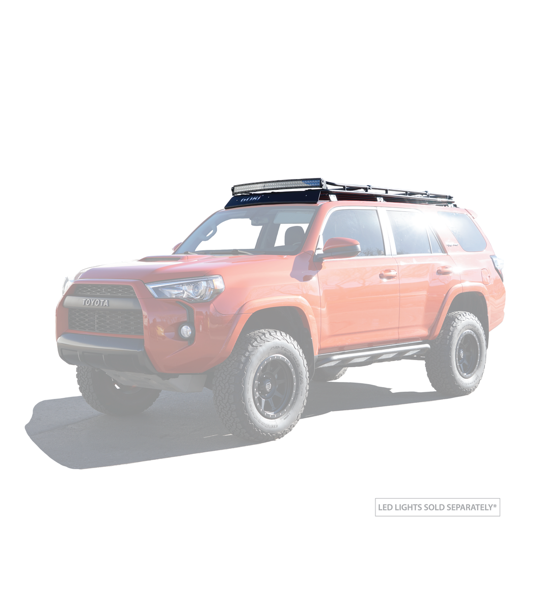 Gobi - Stealth Rack - Light Bar Set Up - No SunRoof -Toyota 4Runner 5th Gen 2010-2021 - 4x4 Runners