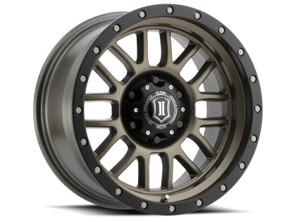 "ICON - ALLOYS ALPHA BRONZE - 17 X 8.5 / 6 X 5.5 / 0MM / 4.75"" BS - 4x4 Runners"