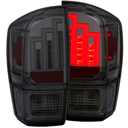 Anzo - LED Taillights Smoke - Toyota Tacoma 3rd Gen 2016-2020 - 4x4 Runners