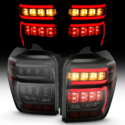 Anzo - BLACK HOUSING SMOKE LENS RED LIGHT BAR W/SEQUENTIAL - Toyota 4Runner 5th Gen 2014-2020 - 4x4 Runners