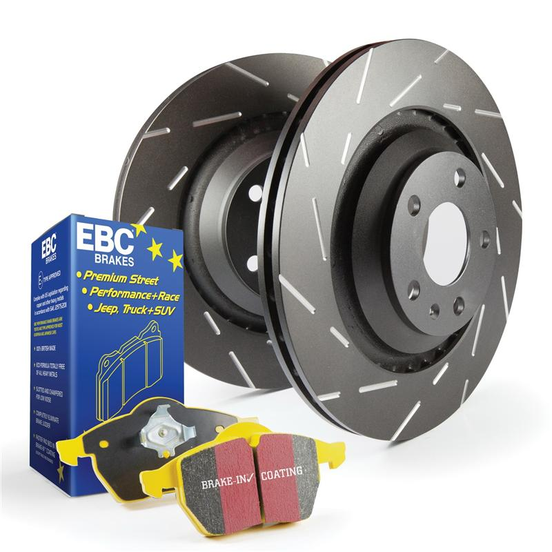 FRONT BRAKE KIT; YELLOWSTUFF BRAKE PADS AND USR ROTORS - TOYOTA 4RUNNER 5TH GEN  2010-2019 - 4x4 Runners