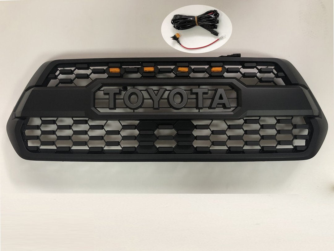 Trd Pro Grille w/ Raptor Lights - Toyota Tacoma 3rd Gen 2016-2019 - 4x4 Runners