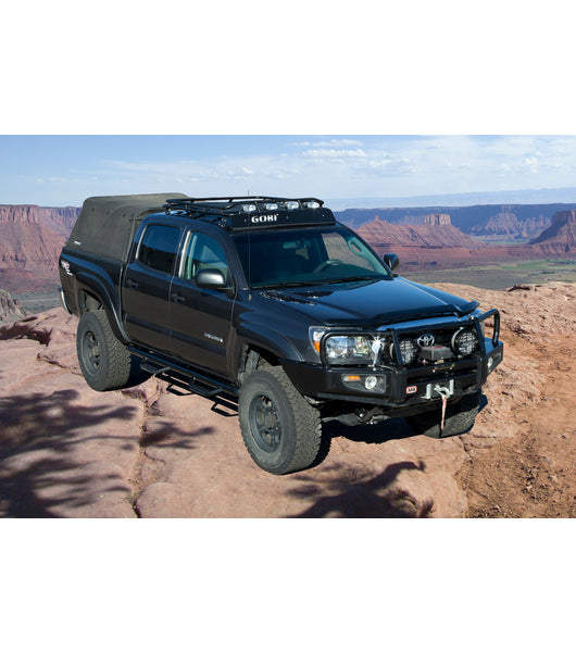 Gobi - STEALTH RACK · Multi-Light Setup · WITH SUNROOF - Toyota Tacoma - 2005-2021 - 4x4 Runners