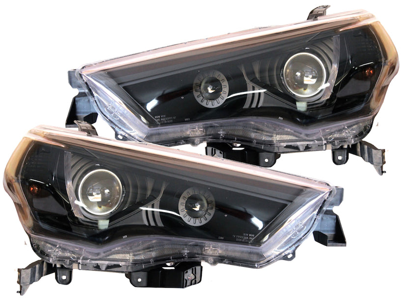 BLACK HEADLIGHT PROJECTOR LIGHTS - Toyota 4Runner 5th Gen 2014-2020 - 4x4 Runners