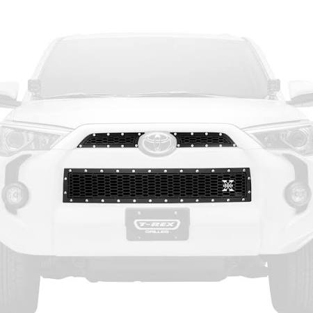 Grille, Black, 3 Pc, Overlay, Chrome Studs - TOYOTA 4RUNNER 5TH GEN 2014-2019 - 4x4 Runners