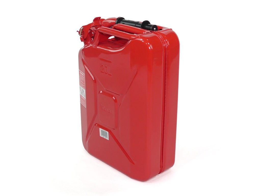 20L RED JERRY CAN W/ SPOUT AND ADAPTER - 4x4 Runners