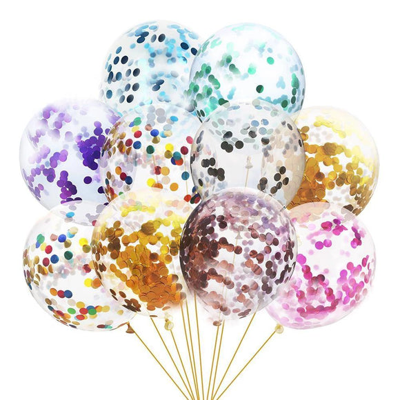 100pcs Rainbow Multicolor Confetti Balloons Glitter Latex Party Balloons