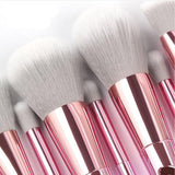 10pcs Premium Synthetic Hair Makeup Brushes Set with Case Bag