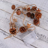20 LED Christmas Pinecone Wood Star String Lights Xmas Garland Light
