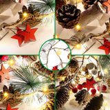 20 LED Christmas String Lights Pinecone Red Berry Star Bell Xmas Garland Light