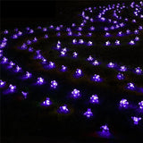 20 LED Peach Flower Solar Powered Waterproof Fairy String Lights