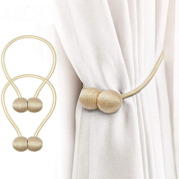 2PCS Smart Magnetic Curtain Tie Back Holdbacks Holders