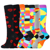 7 Pairs Knee-High Compression Socks for Women & Men
