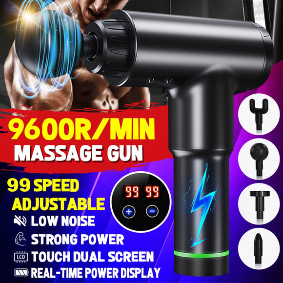 9600 rpm/h Therapy Massage Guns 32 speeds Muscle Sport Massage Machine Relax Pain Relief