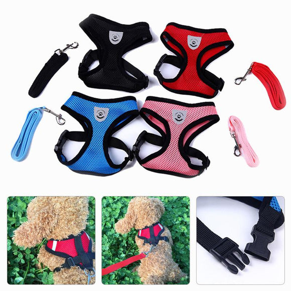 Mesh Harness with Padded Vest for Puppy and Cats