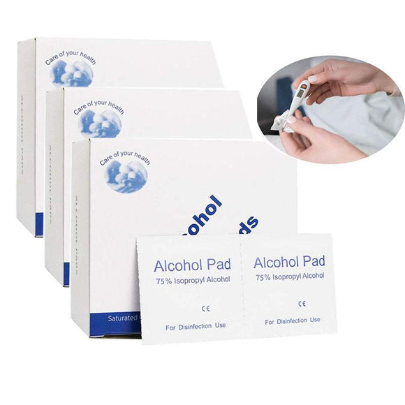 75% Alcohol Antiseptic Prep Pads Skin Cleansing Sterile Disinfectant Wipes Sanitiser