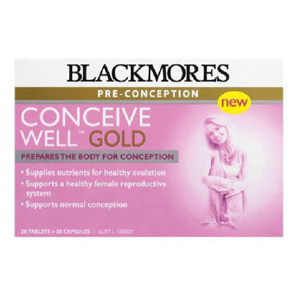 Blackmores-Conceive Well Gold Preconception 56 Tablets (28 Tablets + 28 Capsules)