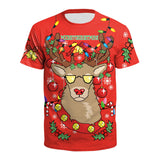 Christmas T-shirts Sports Unisex Xmas Gift 3D Graphic Summer Top Tees