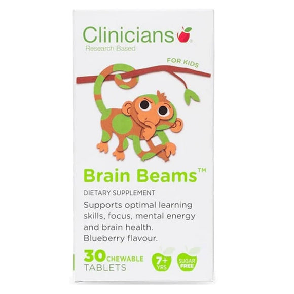 Clinicians Kids Brain Beams 30 Chewables Tasblets